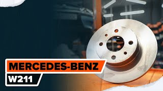 Montaje Cable de accionamiento freno de estacionamiento MERCEDES-BENZ E-CLASS: vídeo manual
