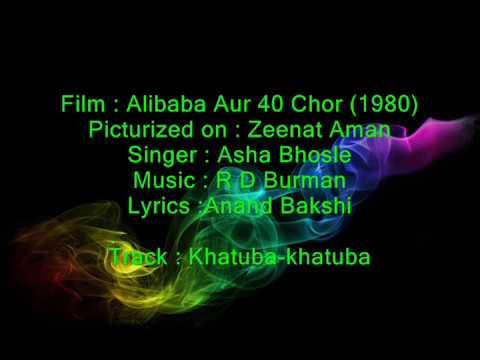 Khatooba - Ali Baba 40 Chor - Full Karaoke