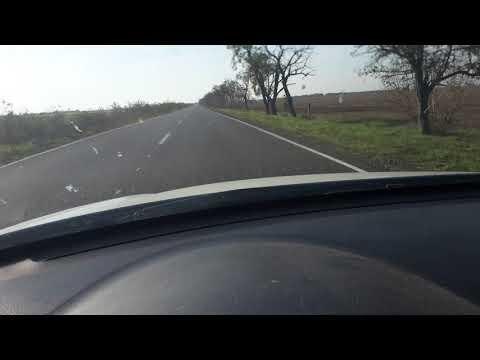 Отремонтированный участок автодороги между населенными пунктами Чаплинка и Аскания-нова.