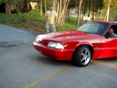 1989 Ford Mustang LX burnout  YouTube
