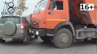 ДТП в городе Среднеуральске, КамАЗ и Тойота