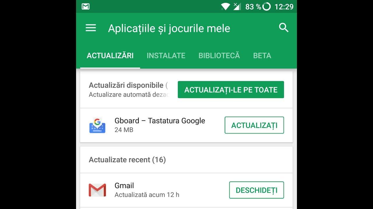 Cum dezactivezi actualizarile automate pentru aplicații pe Android