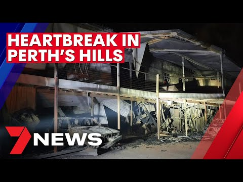 Heartbreak as fires destroy homes in Perth's hills | 7NEWS