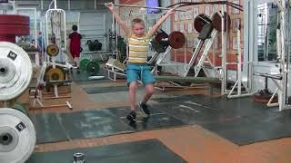 Мирсков Евгений, 10 лет, вк 38 Рывок от бедра в сед 6 кг Новичок