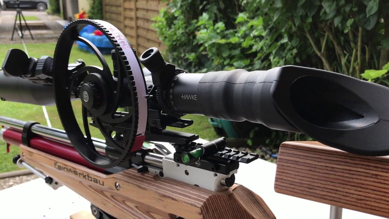 Ein zielfernrohr einmetern für s field target youtube