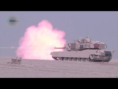 M-84, M1A2 Tanks in Kuwait and U.S. Combined Live Fire Exercise