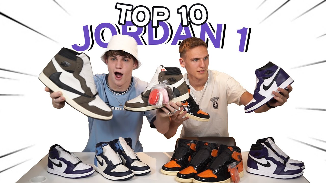 TOP 10 AIR JORDAN 1 HIGH! (Travis, Off White, ...) | Deutsch