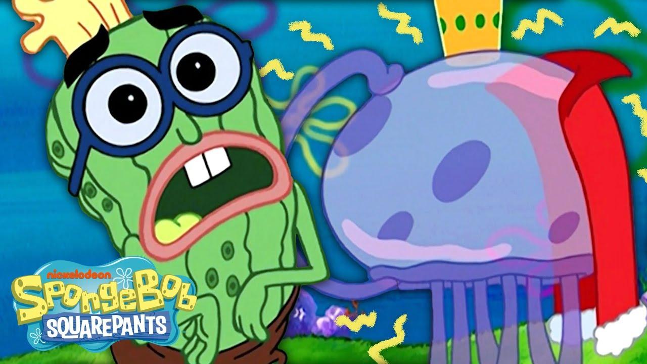"King Jellyfish ATTACKS! ⚡️ ""I'm Your Biggest Fanatic"" ft. Kevin C. Cucumber | SpongeBob"