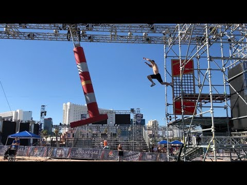 Joe Moravsky American Ninja Warrior 2018 - Vegas Finals Stages 2 And 3 Course Testing!