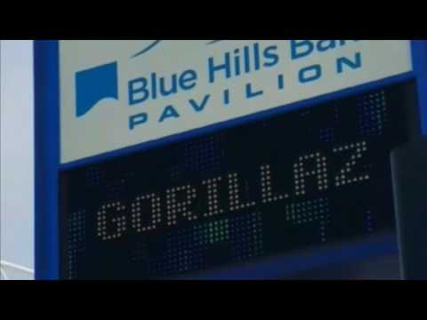Gorillaz Humanz tour 2017 at Blue Hills Bank Pavilion in Boston