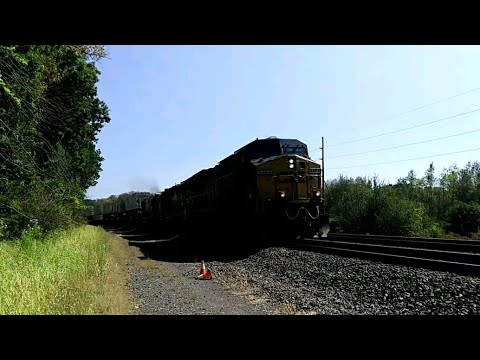 [HD] CSX Intermodal Train in Lyons, NY