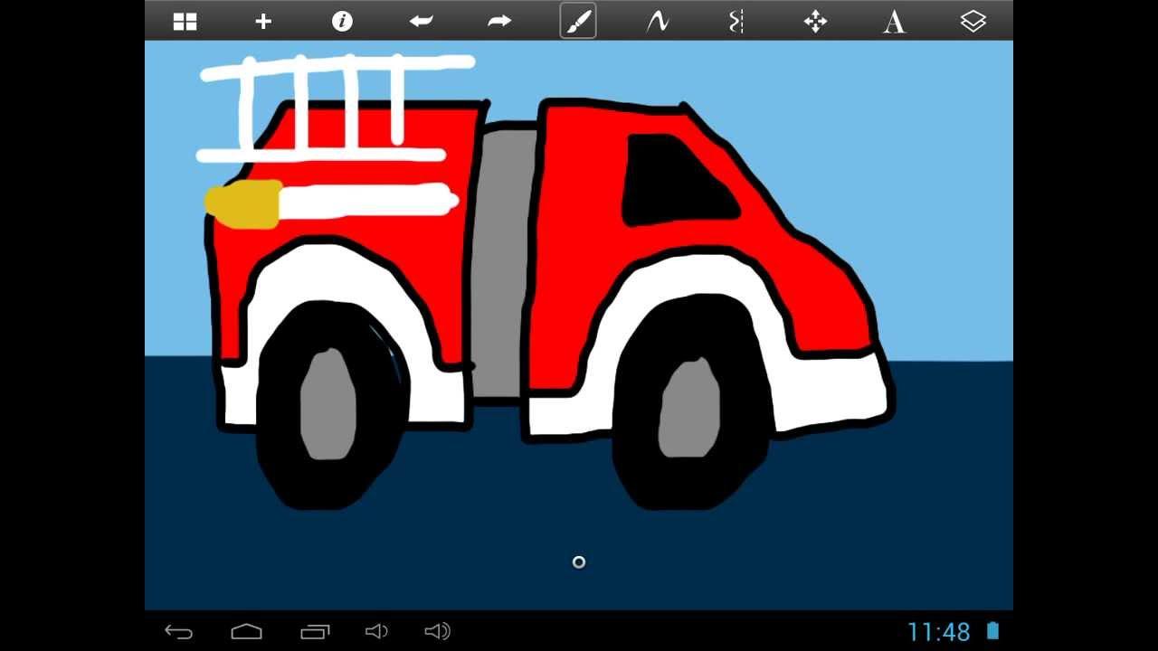 Aprende a Dibujar un Camión de Bomberos - Learn to Draw a ...