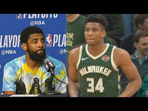 Kyrie Irving Gets Sick Of Giannis Getting A Lot Of Free Throws & Calls It Out After Game 3 vs Bucks!