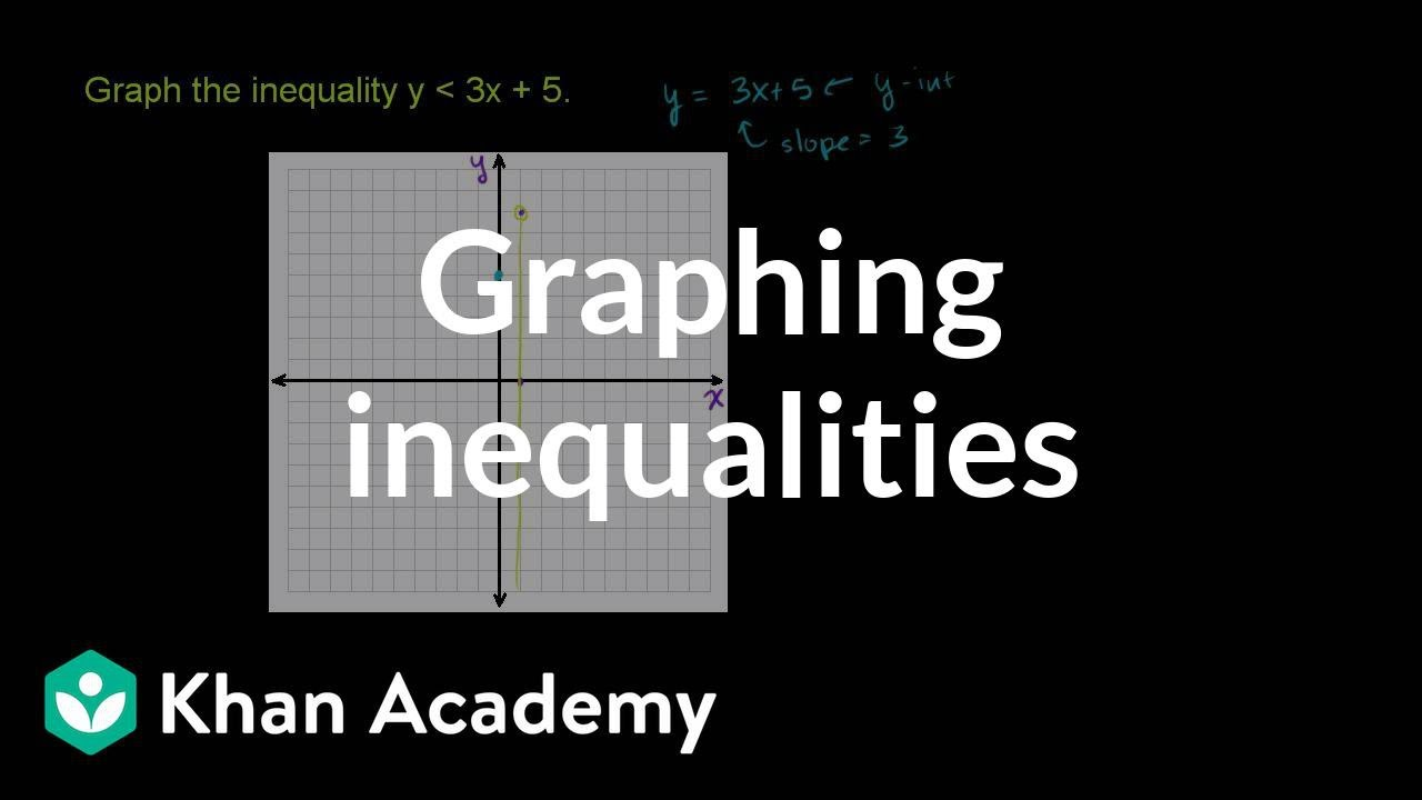 Graphing two-variable inequalities (video) | Khan Academy