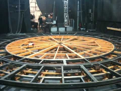 Building the revolving stage for a christmas carol youtube for Stages in house construction