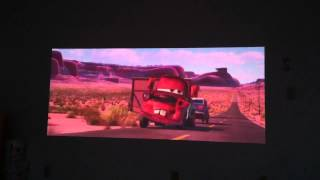 acer k330 watching Cars 2