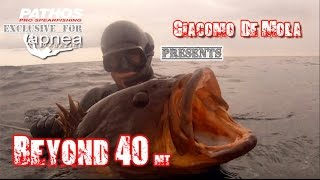 beyond 40 spearfishing over 40 meters with giacomo de mola pathossub
