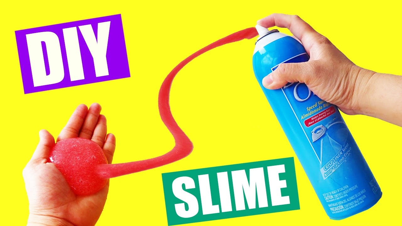 How To Make Slime with Liquid Spray Starch No Borax Slime ...