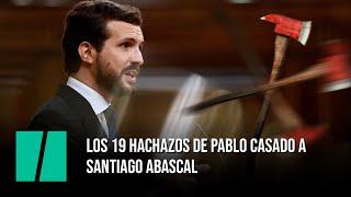 Los 19 hachazos de Pablo Casado a Santiago Abascal