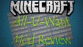 Download All U Want Mod 1.8.9/1.7.10