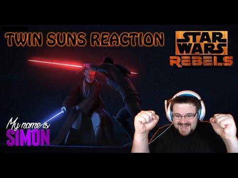 Star Wars Rebels - Se3 Ep20 - Twin Suns - Reaction (MAUL VS OBI-WAN!!)
