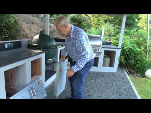 Outdoorküche Mit Kühlschrank Bedienungsanleitung : Moesta grilltisch review outdoorküche youtube