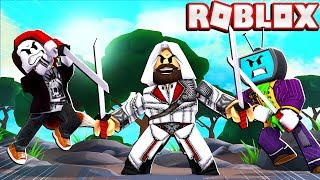 Fighting Assassins With My Girlfriend In Roblox Slaying Simulator