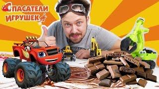 Алекс Гараж строит трек для ВСПЫША из сладостей!