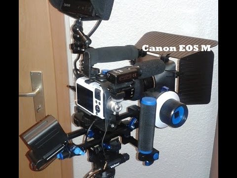 Canon EOS M with External Sony NP Battery