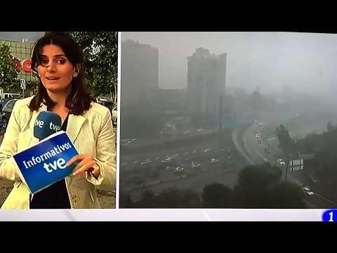 La reportera que huye en directo