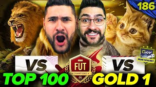 PLAYING LIKE A LION vs TOP 100 MONTHLY PROs & LIKE A SMALL KITTEN VS GOLD 1 PLAYERS 🤦‍♂️! FIFA 21 WL