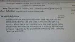 Department of Housing and Community Development (HCD) CA Real Estate License Exam VocabUBee.com