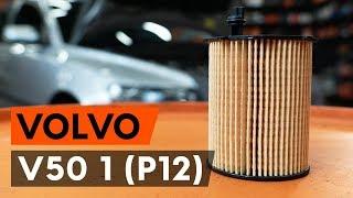VOLVO V50 Alyvos filtras keitimas: instrukcija