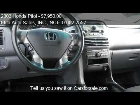 2003 honda pilot ex third row seat for sale in raleigh nc youtube. Black Bedroom Furniture Sets. Home Design Ideas