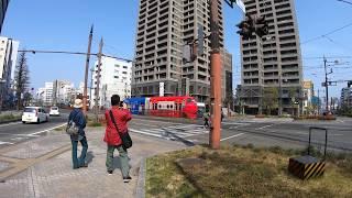 (GoPro7) 岡山電気軌道 チャギントン電車がやってきた! / 岡山県岡山市