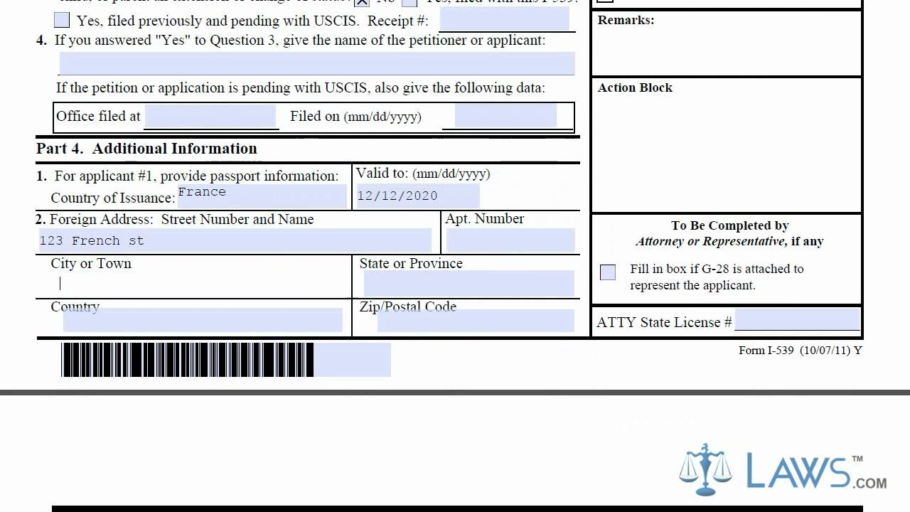 Learn how to fill the i 539 form application to extend change non learn how to fill the i 539 form application to extend change non immigrant status youtube falaconquin