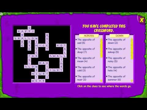 Bin Weevils  Opposites Crossword Answers  YouTube