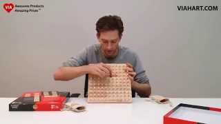 Rubber Road Rubber Band Wooden Board Game And Pegboard From Viahart