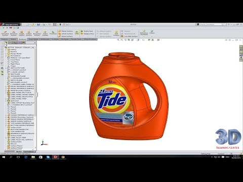 SolidWokrs Tutorial #1 : Tide Bottle