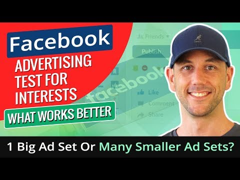Facebook Advertising Test For Interests - What Works Better, 1 Big Ad Set Or Many Smaller Ad Sets?