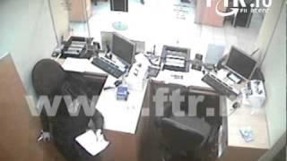 Jaf la BT - Imagini din timpul jafului la sucursala Banca Transilvania din Manastur, Cluj-Napoca