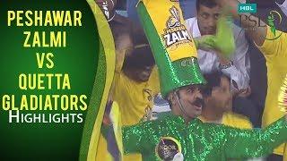 PSL 2017 Match 19: Peshawar Zalmi vs Quetta Gladiators Mini Highlights