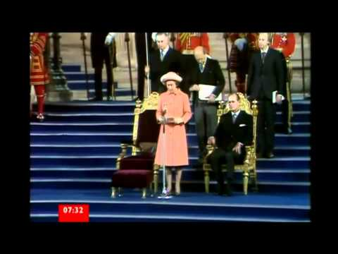 Item on HM The Queen's Diamond Jubilee Address to Parliament  - March 2012