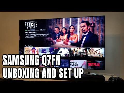Samsung Q7fn Unboxing Set Up First Look Youtube