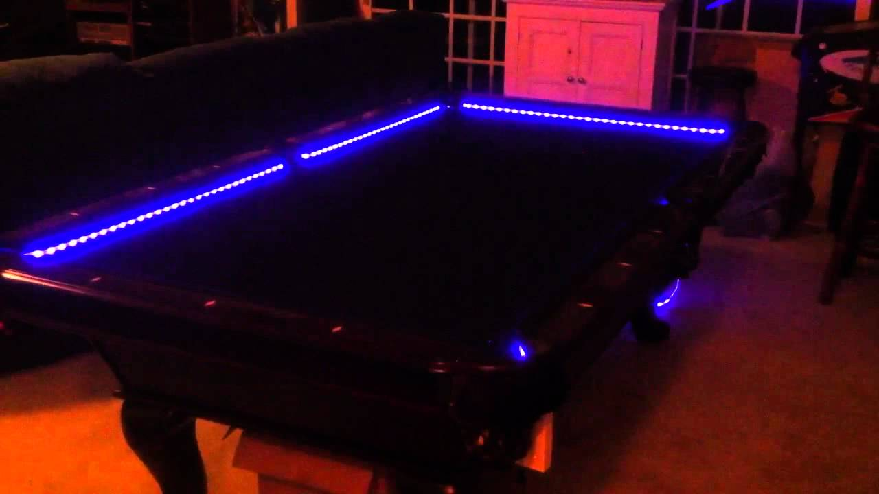 RGB Led Bar Pool Table Lights Color Changing And Beats To T YouTube - El pool table