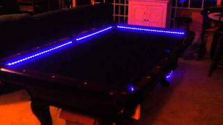Rgb Led Bar Pool Table Lights - Color Changing And Beats To T