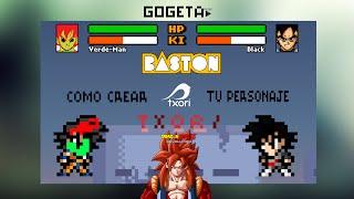 Como crear tu personaje de dragon ball z devolution Baston