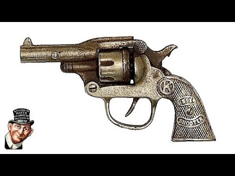 Test Firing Vintage caps in a1949 Kilgore Six Shooter Cap Gun