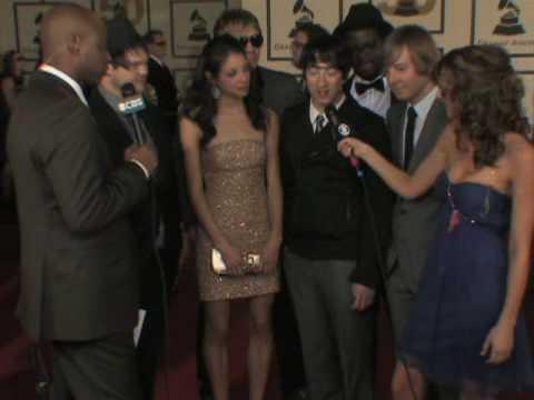 The 50th Grammy Awards - Plain White Tees Red Carpet