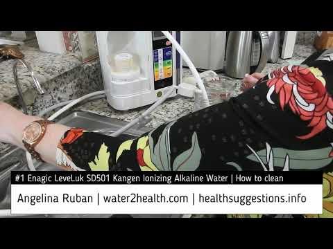 #1 Enagic LeveLuk SD501 Kangen Ionizing Alkaline Water | How to clean